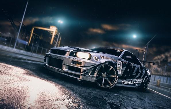 Picture Auto, Night, The game, Machine, Nissan, GT-R, Car, Skyline, Nissan Skyline GT-R, Blind Sarathonux, Need …