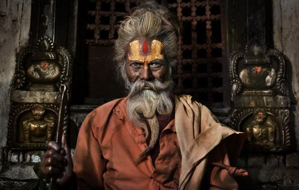 Picture Nepal, Hindu Priest, Pashupatinath Temple