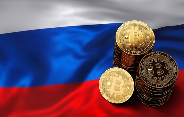 Picture flag, coins, Russia, russia, flag, coins, bitcoin, bitcoin