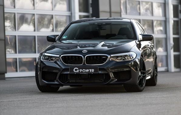 Picture BMW, sedan, front view, G-Power, 2018, BMW M5, four-door, M5, F90, dark gray