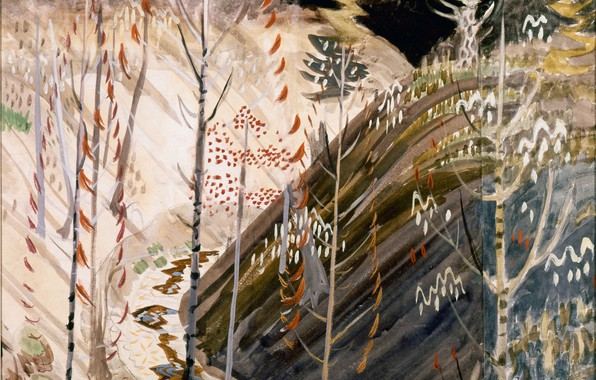 Picture nature, 1917, Charles Ephraim Burchfield, Pine Hollow in Spring