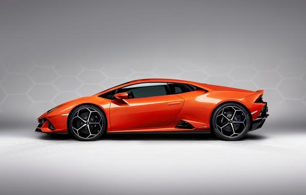 Picture machine, Lamborghini, sports, drives, side view, Evo, Huracan