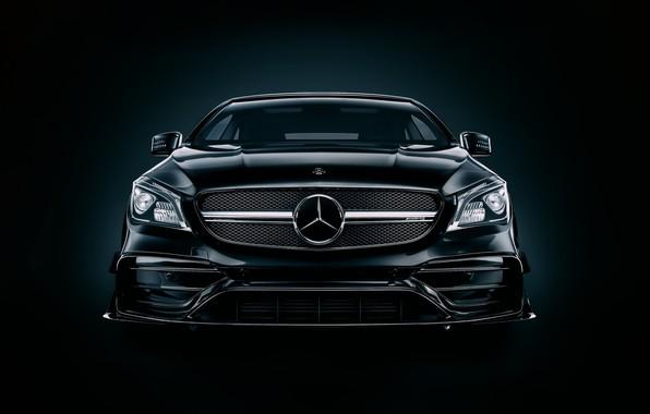 Picture Auto, Black, Machine, Mercedes, Lights, Car, Art, Render, Design, AMG, Black, The front, Transport & …