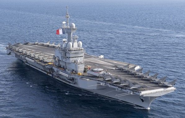 Picture The carrier, Dassault Rafale, Rafale M, French Navy, Charles de Gaulle (R91), Dassault Rafale M, …