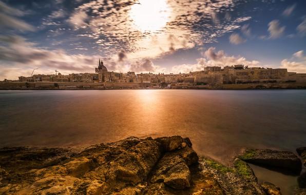 Picture Sunset, Malta, Valletta