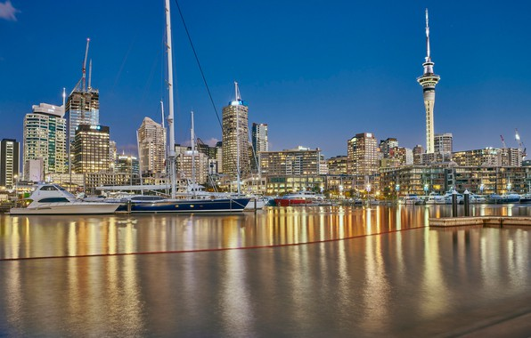 Picture building, home, yachts, New Zealand, skyscrapers, Auckland, New Zealand, Auckland, harbour, Westhaven Marina