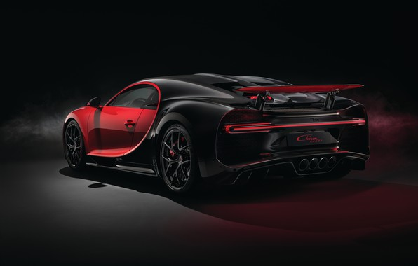 Picture Bugatti, rear view, 2018, Sport, Chiron