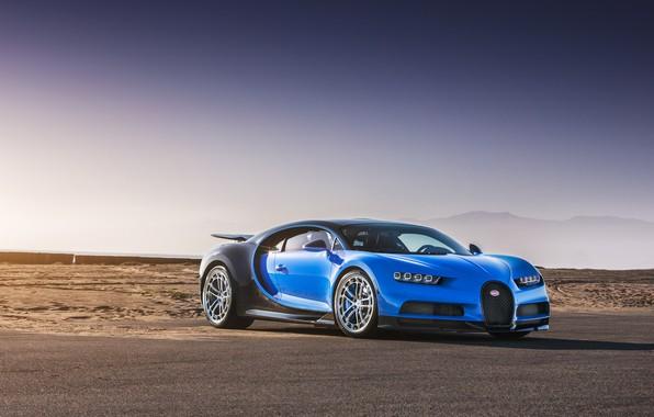 Picture Bugatti, Blue, Black, Vossen, VAG, Chiron