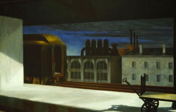 Picture Edward Hopper, 1942, Dawn In Pennsylvania