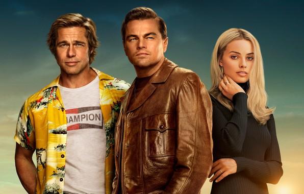 Picture the film, actor, brad pitt, brad pitt, movie, Leonardo DiCaprio, leonardo dicaprio, margot robbie, Margot …