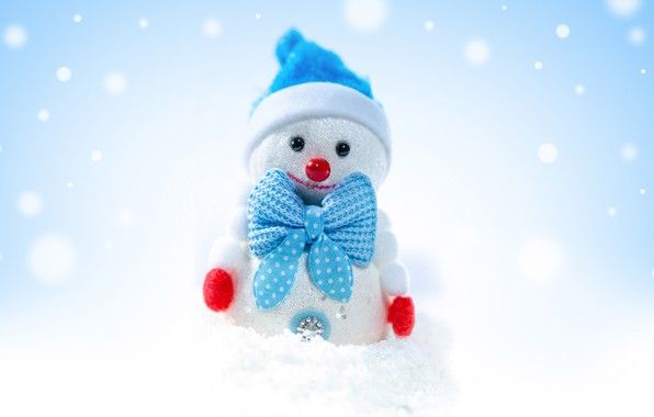 Picture winter, holiday, toy, Christmas, snowman