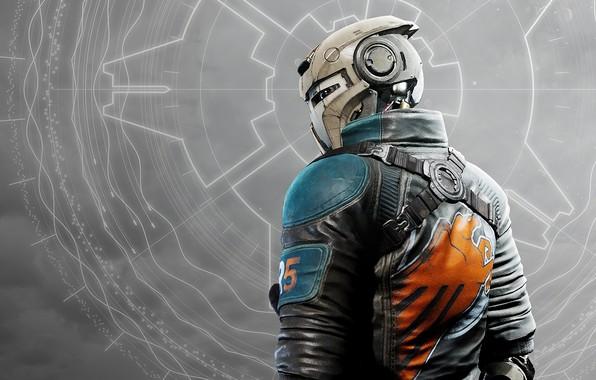 Picture background, helmet, armor, Disintegration