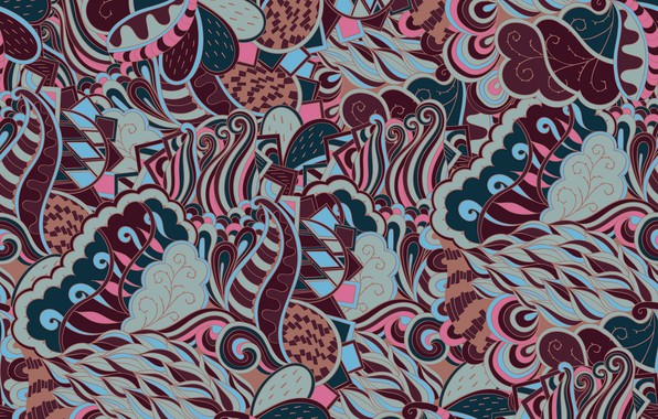Photo Wallpaper Abstraction Background Pattern Texture Paisley