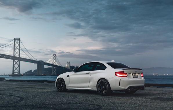 Picture white, bridge, F87, BMW M2
