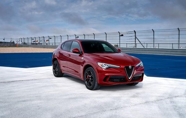 Picture auto, Alfa Romeo, Burgundy, Stelvio Four-Leaf Clover