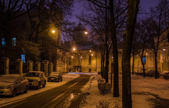 Picture night, the city, street, view, Peter, Saint Petersburg, Russia, architecture, megapolis, Leningrad, Tiflis street