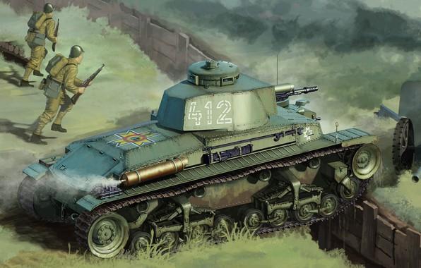 Picture Skoda, Czechoslovak light tank, LT vz.35, tank Romanian R-2