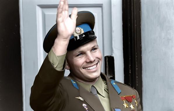 Picture Yuri Gagarin, Hero Of The Soviet Union, лётчик-космонавт СССР