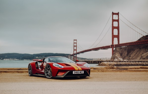 Picture bridge, Ford GT, sports car