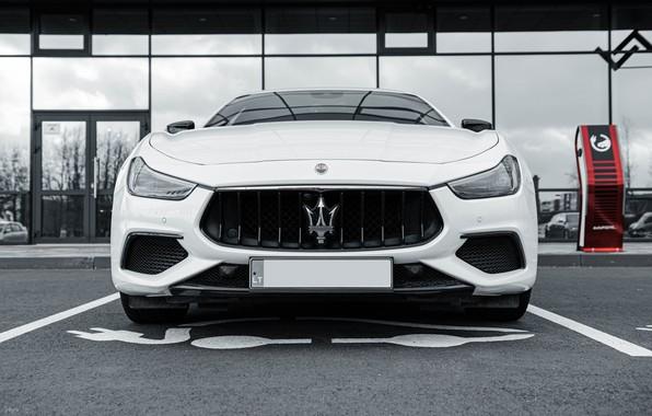 Picture Maserati, Car, White, Italian, Maserati Ghibli, Ghibli, Italian Car