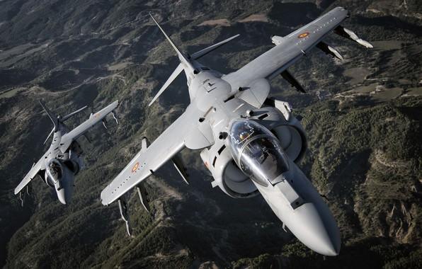 Picture Attack, Harrier II, Cockpit, McDonnell Douglas AV-8B Harrier II, VTOL, The air force of Spain, …