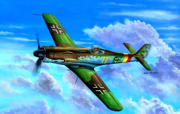Picture multipurpose, fighter-bomber, Luftwaffe, Focke-Wulf, The Third Reich, Ta.152C, medium