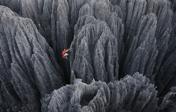 Picture rocks, people, climbing, Climbing
