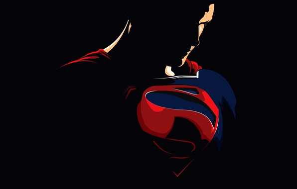Picture vector, costume, Superman, black background, comic, Superman, Clark Kent