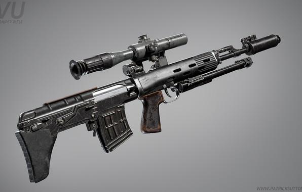 Picture rendering, weapons, gun, weapon, render, custom, sniper rifle, snayperskaya rifle, marczynska rifle, all, marksman rifle, …