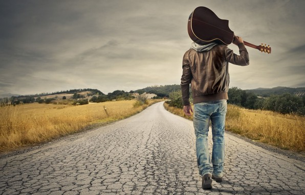 Picture Wallpaper, Road, Man, Mood