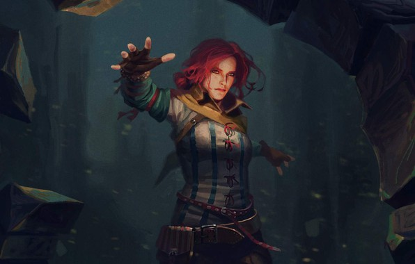 Picture art, magic, the Witcher, art, the enchantress, witcher, Triss Merigold, Triss Merigold, Gwent: The Witcher …