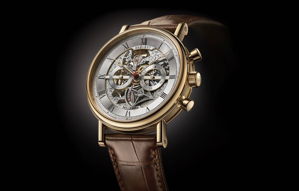 Picture time, style, watch, black background, Swiss, wrist, men's, Breguet, Breguet-Montre-Only-Watch