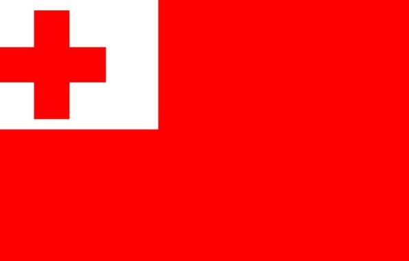 Picture red, background, cross, flag, red, white, cross, fon, flag, Tonga, Tonga, Tonga, come
