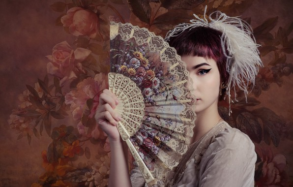Picture girl, fan, Emma Annebel Albers