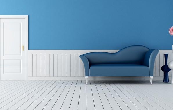 Picture room, sofa, wall, Interior
