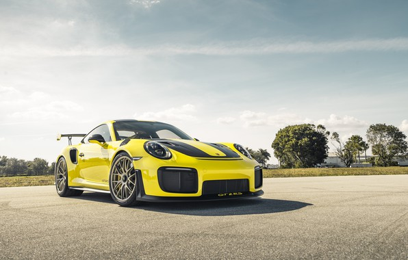 Picture 911, Porsche, Sun, Yellow, VAG, Sight, GT2RS
