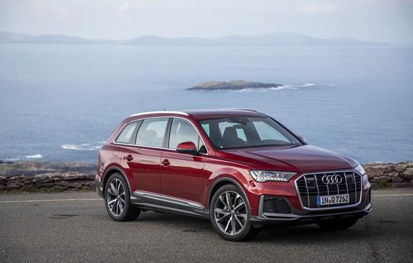 Picture road, auto, river, Audi, quattro, TFSI