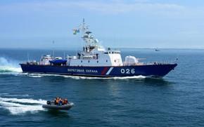 Picture ship, guard, border, Yuzhno-Sakhalinsk