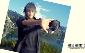 Picture lake, photo, hands, guy, Final Fantasy XV