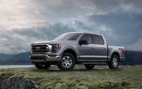 Picture grey, Ford, pickup, F-150, 2020, 2021, F-series