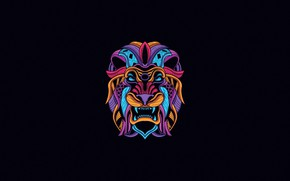 Picture Minimalism, Dragon, Style, Background, Mask, Art, Art, Abstract, Style, Color, Neon, Background, Illustration, Minimalism, Animal, …