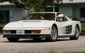 Picture Ferrari, White, Testarossa