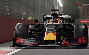 Picture track, racing car, F1 2019, Red Bull RB15