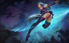 Picture Girl, Fantasy, Assassin, League of Legends, Illustration, LOL, Character, Characters, Mage, Game Art, István Dányi, …