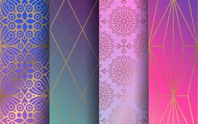 Wallpaper background, texture, geometry, ornament, pattern, ornament