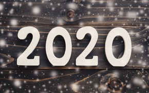 Picture snowflakes, New Year, new year, happy, wood, snowflakes, 2020