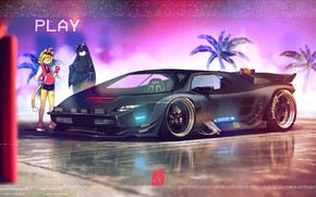 Picture Auto, Music, Machine, Background, Car, Art, Supercar, Neon, Illustration, Synth, Retrowave, Synthwave, New Retro Wave, ...