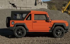 Picture orange, shadow, SUV, profile, 2011, 4x4, Travec, Tecdrah Integrale 1.5 TTi, Renault/Dacia Duster, frame