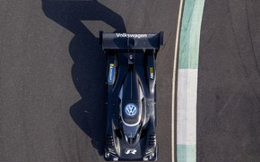 Picture black, Volkswagen, prototype, prototype, the view from the top, 2018, I.D. R