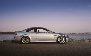 Picture bmw, sky, sunset, e46